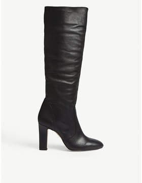 Office Kitsch leather knee-high boots