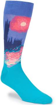 Hot Sox Parliament At Sunset Crew Socks
