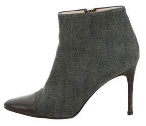 Chanel Denim Cap-Toe Ankle Boots