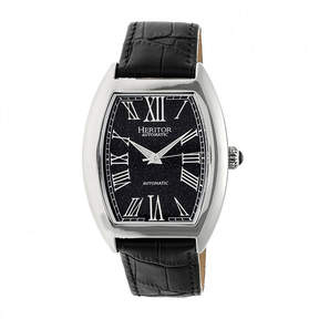 Heritor Baron Mens Black Strap Watch-Herhr6004
