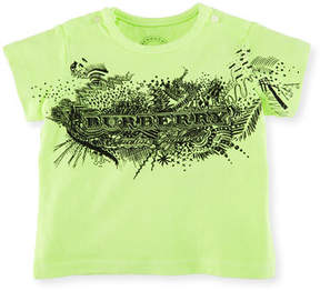Burberry Rydon Scribble-Print Cotton T-Shirt, Size 6M-3Y