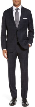 BOSS Men's Johnstons/lenon Classic Fit Windowpane Wool Suit