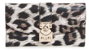 GUESS Britta Leopard-Print Slim Wallet