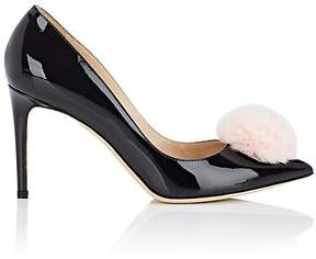 Repetto WOMEN'S POM-POM-EMBELLISHED PATENT LEATHER PUMPS