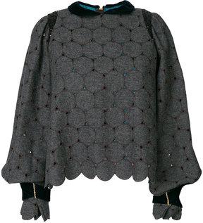 Kolor pan collar balloon sleeve sweater