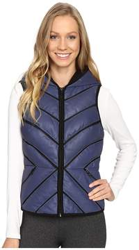 Blanc Noir Mesh Inset Puffer Vest Reflective Women's Vest