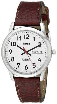 Timex Easy Reader Brown Leather Watch #T20041 Watches