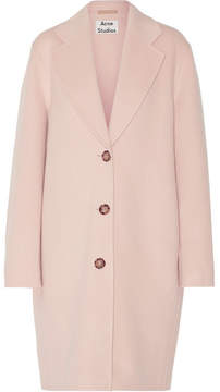 Acne Studios Landi Oversized Wool And Cashmere-blend Coat - Pastel pink