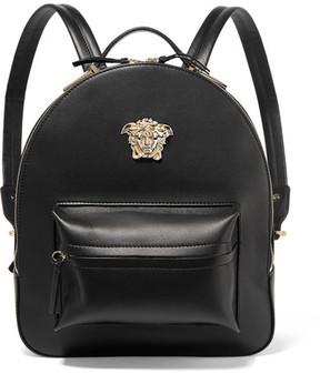 Versace - Palazzo Medium Leather Backpack - Black