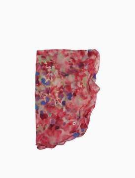Calvin Klein watercolor ruffle scarf