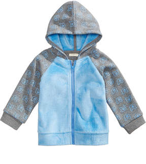First Impressions Bear-Print Hoodie with Faux-Fur Trim, Baby Boys (0-24 months), Created for Macy's