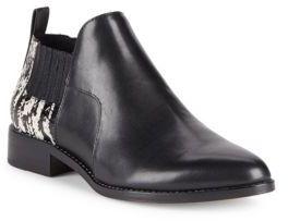 Pour La Victoire Almond Toe Leather Chukka Boots