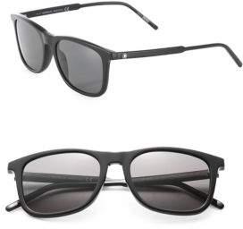 Montblanc 45MM Polarized Square Sunglasses