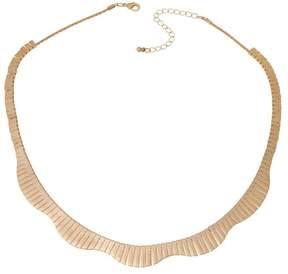 Danielle Nicole Akela Goldtone Wavy Fringe 19-3/4 Bib Necklace
