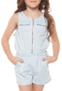 Dex Little Girl's Zippered Cotton Romper