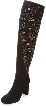LK Bennett L.K.Bennett Women's Kassandra Embroidered Suede Over The Knee Boot