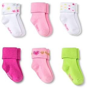 Hanes Toddler Girls' 6-Pack Bobby Socks - Multicolored