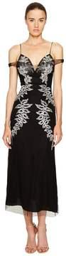 Francesco Scognamiglio Embellished Cold Shoulder Short Sleeve Dress Women's Dress