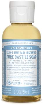Dr. Bronner's Trial Size Baby Unscented Liquid Soap by 2oz Liquid Soap)