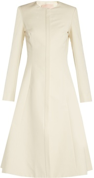 Brock Collection Carine collarless cotton-blend faille coat
