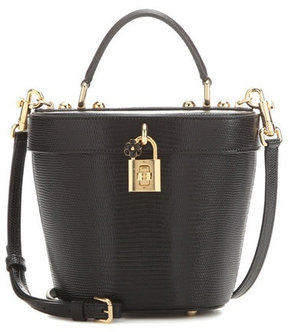 Dolce & Gabbana Embossed leather bucket bag