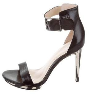Calvin Klein Collection Leather Ankle Strap Sandals w/ Tags