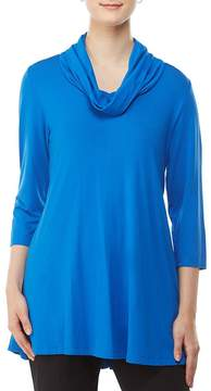 Allison Daley Cowl Neck Luxe Jersey 3/4 Sleeve Tunic