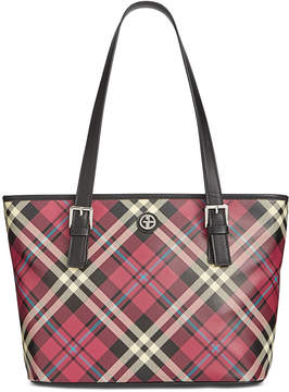 Giani Bernini Plaid Tulip Tote, Created for Macy's