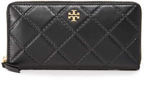 Tory Burch Georgia Zip Continental Wallet - BLACK - STYLE