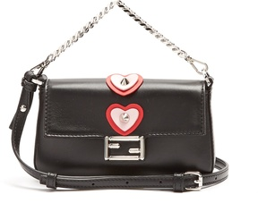 FENDI Micro Baguette heart-appliqué cross-body bag