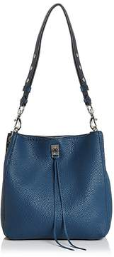 Rebecca Minkoff Darren Leather Shoulder Bag - OCTAVIO BLUE/SILVER - STYLE