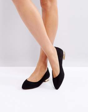 London Rebel Pointed Ballet Flats