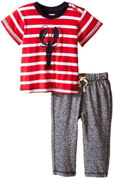 Hatley Lobsters Tee & Track Pants Set (Infant)