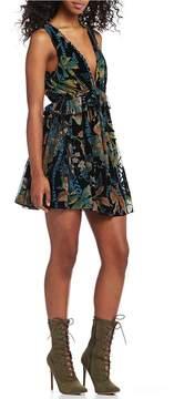 Chelsea & Violet Printed Burnout Velvet Dress