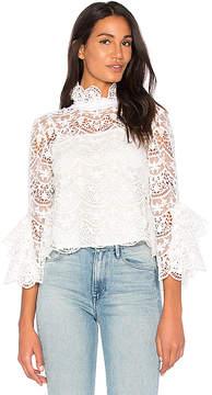 Endless Rose Ribbon Ties Crochet Lace Top