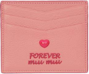 Miu Miu Pink Madras Love Card Holder