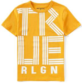 True Religion Big Boys 8-20 Short-Sleeve Linear TR Tee