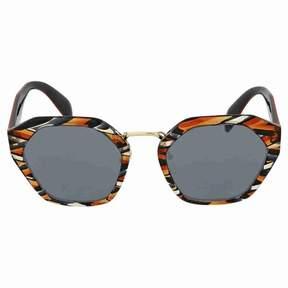 Prada Sheaves Grey Orange Sunglasses