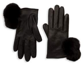 Saks Fifth Avenue Metisse Pom Tech Gloves
