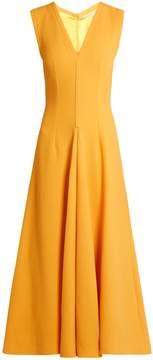 Emilia Wickstead Suki V-neck sleeveless wool midi dress