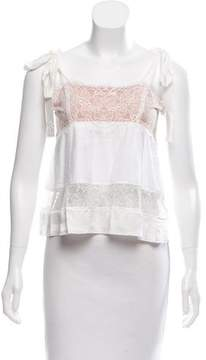 For Love & Lemons Sleeveless Lace-Accented Top