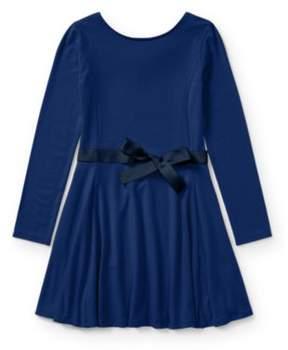 Ralph Lauren Belted Jersey Dress Holiday Navy S