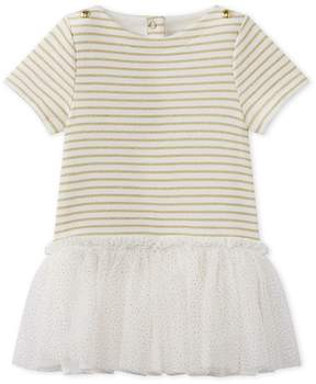 Petit Bateau Baby girl's dress with short sleeves