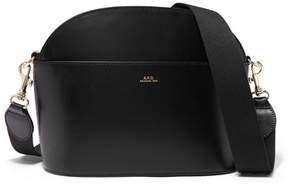 A.P.C. Gaby Leather Shoulder Bag - Black
