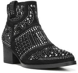 Fergie Elis Block Heel Leather Bootie