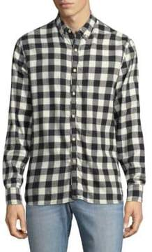 Joe's Jeans Piper Checkered Cotton Button-Down Shirt