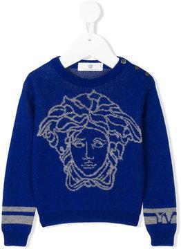 Versace Medusa motif sweater