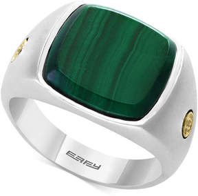 Effy Men's Malachite Ring in Sterling Silver & 18k Gold
