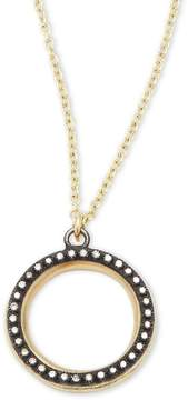 Armenta Women's Old World Champagne Diamonds, 18K Yellow Gold & Sterling Silver Round Pendant Necklace