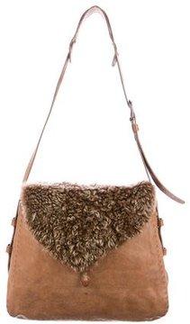 Henry Beguelin Shearling & Leather Enza Messenger Bag